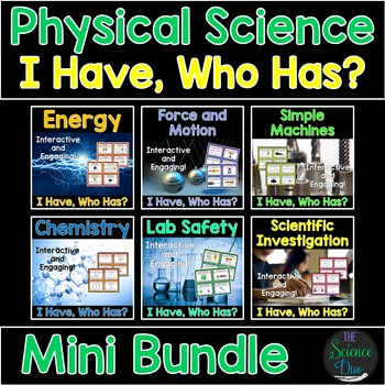 """Physical Science """"I Have, Who Has?"""" - Mini Bundle"""