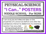 """Physical Science Illustrated """"I Can"""" Posters for NGSS"""