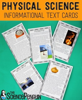 Physical Science Informational Text Cards