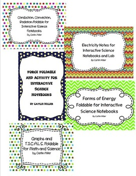 Physical Science Interactive Notebook Bundle