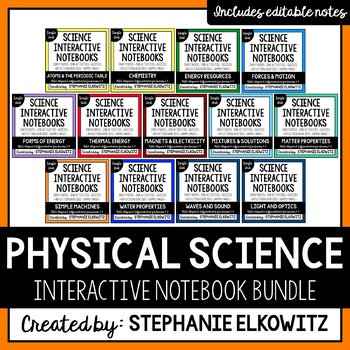 Physical Science Physics Interactive Notebook Bundle