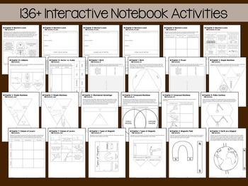 Intermediate Physical Science Interactive Notebook Bundle