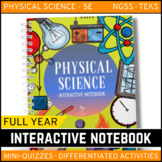 Physical Science Interactive Notebook Complete Bundle - Distance Learning