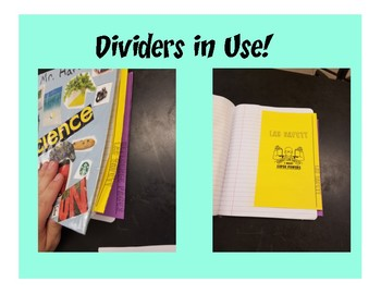 Physical Science Interactive Notebook Unit Dividers