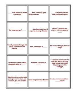 Physical Science Intro Game