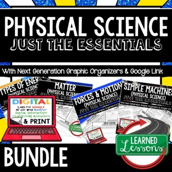 Physical Science Just the Essentials Outlines, Next Generation Science, Bundle