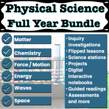 Physical Science Lesson Plans Growing Bundle
