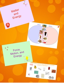 Physical Science (Matter & Energy, Force & Motion) Interactive Whiteboard Review