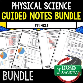 Physical Science Matter and Its Properties Student-Teacher Guided Notes BUNDLE