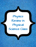 Physical Science - Midterm Review for the Physics Portion - *Task Card Bundle*