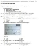 Physical Science Motion and Forces Examview Tests (CP and Pre-AP) with Review