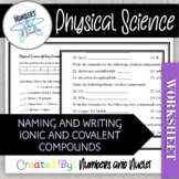 Physical Science Naming and Writing Ionic and Covalent Bon