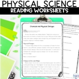 Physical Science Nonfiction Reading Worksheets and Activit