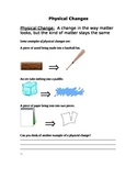Physical Science: Physical Changes in Matter