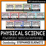 Physical Science Physics PowerPoint, Notes & Exam Bundle