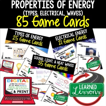 Physical Science Properties of Energy 85 I Have Who Has Game Cards