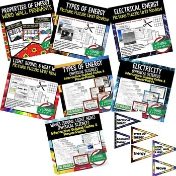Physical Science Properties of Energy (Physical Science BUNDLE)