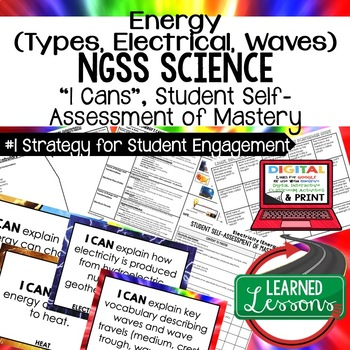 Physical Science Properties of Energy I Cans Student Self Assessment