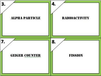 Physical Science Radioactivity Task Cards (Fully Editable