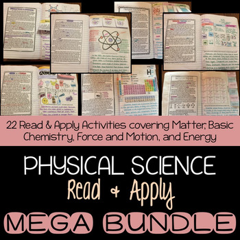 Physical Science Interactive Notebook and Reading Comprehension MEGA BUNDLE