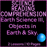 Earth Science Reading Comprehension Passages | Objects in
