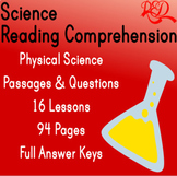 ⭐Physical Science Reading Comprehension Passages and Questions  | Bundle | Gr5-6