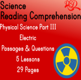 Physical Science Reading Passages and Questions | Magnets