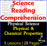 Physical Science Reading Comprehension | Physical & Chemic