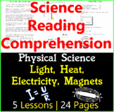 Physical Science Reading Passages | Light, Heat, Electrici