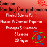 Physical Science Reading Passages | Physical and Chemical