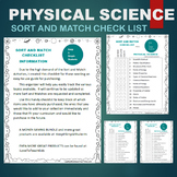 Physical Science Resources - Sort & Match Activities Check List