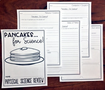 Physical Science Review Activity