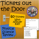 Physical Science Review- Exit Tickets Out The Door (NOS, Matter, Energy, Motion)