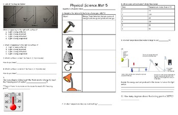 Physical Science Review Mat 5