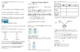 Physical Science Review Mat 6
