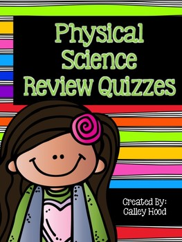 Physical Science Review Questions Year Round & Test Prep