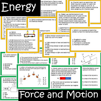 Physical Science Review Task Cards