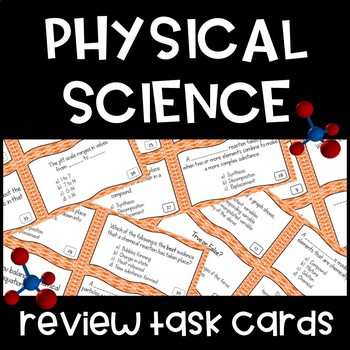 Physical Science Review Task Cards: Matter, Compounds, Periodic Table, Solutions