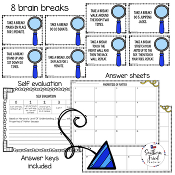 Physical Science Scoot Games/Task Cards BUNDLE
