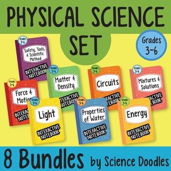 Physical Science Doodles SET of 8 BUNDLES at 25% OFF! *BEST SELLER*