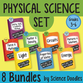Physical Science Doodle SET of 8 BUNDLES *INB BEST SELLER* Easy to Use Notes
