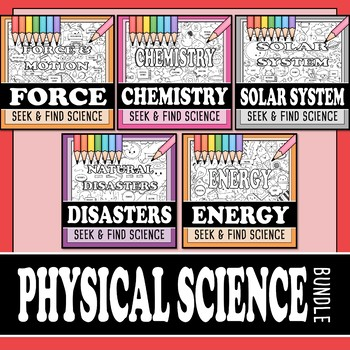 Physical Science Seek & Find Doodle Pages Bundle