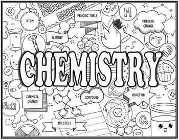 Physical Science Seek and Find Science Doodle Pages Bundle