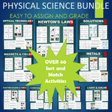 Physical Science Sort and Match BUNDLE - Many Topics Covered