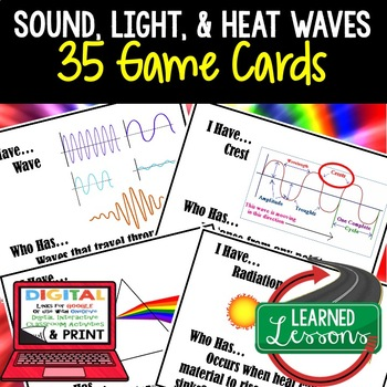 Physical Science Sound, Light, & Heat Waves 35 I Have Who Has Game Cards