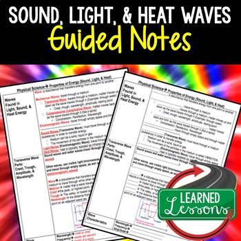 Physical Science Sound, Light, & Heat Waves Guided Notes