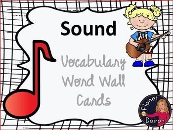 Physical Science Sound Unit Vocabulary Word Wall