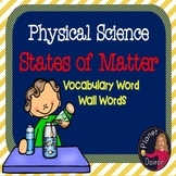 Physical Science States of Matter Vocabulary Word Wall Car