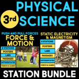 Physical Science Stations BUNDLE for Third Grade