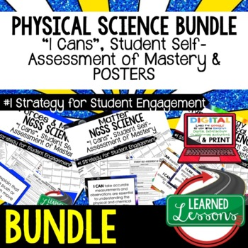 Physical Science Student Self Assessment  I Cans (Physical Science BUNDLE)